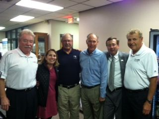GreatLIFE Founder Tom Walsh, Cindy Huether, Kevin Grebin, Bill Townsend, Mayor Mike Huether, GreatLIFE's Reid Hans