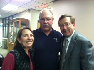 Cindy Huether, Kevin Grebin, Mayor Mike Huether